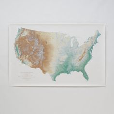 Fancy - Topographic USA Wall Map