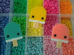 Image result for perler bead patterns rainbow ice cream