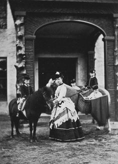 Alexandra, Princess of Wales, with her children at Abergeldie in 1870