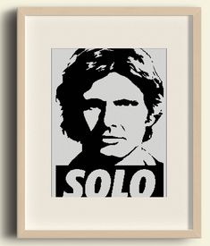 BUY 2 GET 1 FREE / Star Wars  Han Solo/ Easy Cross Stitch / Cross Stitch Pattern / pdf Digital Pattern / Cross-Stitch pdf /#C4 by Embroidery4kidsArt on Etsy