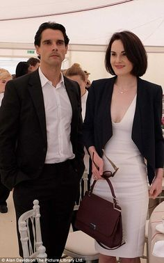 Michelle Dockery and fiancé