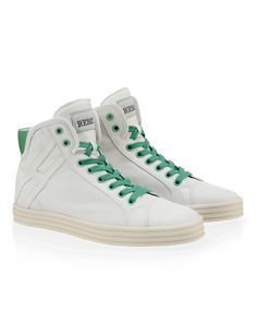 #HOGANREBEL Women's Spring - Summer 2013 #collection: leather High-Top #sneakers R182 with bright-coloured detailing.