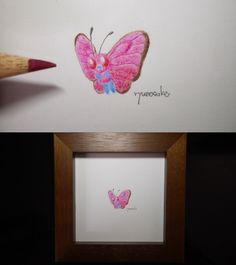 pokemon art for bugs. Pokemon - Butterfree has been coloring in watercolor pencils.  虫さんのためのポケモン・バタフリーの水彩色鉛筆ぬり絵です。 #pokemon #Butterfree #go #art #ポケモン #バタフリー #アート