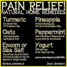 Natural pain relievers you probably have in your house already. #FitDE #netde