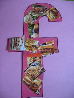 Letter F: Cut out items from newspaper and magazines that begin with the letter of the week. Have children glue them on the letter.