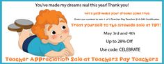 Flash Freebie and Enter Win 1 of 2 $10 Gift Certificates at Teachers Pay Teachers.   The contest ends May 3rd at 11:59 p.m. EDT.
