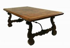 French Basque Spanish Extending Dining  Table Parquet