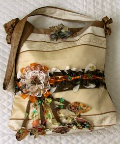 Designer Shoulder Handbag, Autumn Colors and Falling Leaves by IckyChic on Etsy