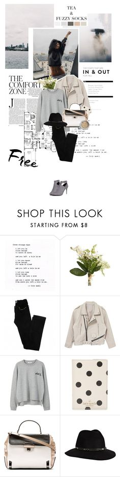 """""""It's the best thing in the worst way"""" by chrissykinz ❤ liked on Polyvore featuring Strange Days, Pier 1 Imports, Zadig & Voltaire, MANGO, Kate Spade, Marc by Marc Jacobs, Anine Bing and WithChic"""