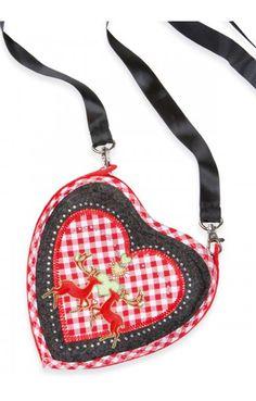 Trachten Tasche - T250 - Herz anthrazit