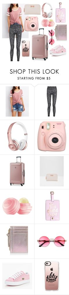 """""""Travel #1"""" by i-c-j ❤ liked on Polyvore featuring Charlotte Russe, NIKE, Fujifilm, Victorinox Swiss Army, Ted Baker, ban.do, Accessorize, Lacoste and Casetify"""