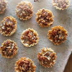 "These bite sized pecan tarts are the perfect ""skinny"" replacement for pecan pie this holiday season! They are so easy to make, and really good!"