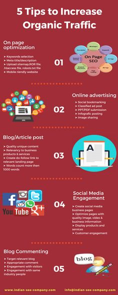 Read the infographic to drive more organic traffic to your website. For more details visit www.indian-seo-company.com