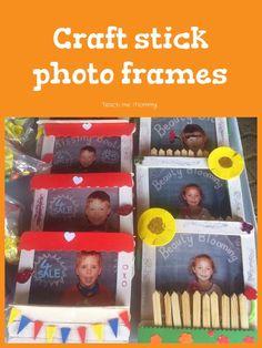 Craft stick photo frames