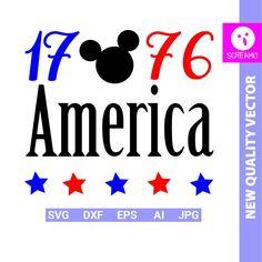 AMERICA Mickey svg 4th of july svg USA cut files svg 1776