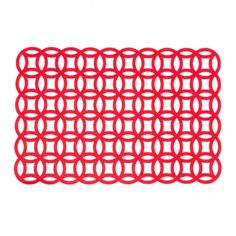 Felt Geometric Placemats Red