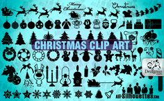 Christmas clip art Collection. Read full post http://webneel.com/webneel/blog/50-christmas-themed-vectorpng-resources-your-greeting-cards | Follow us www.pinterest.com/webneel