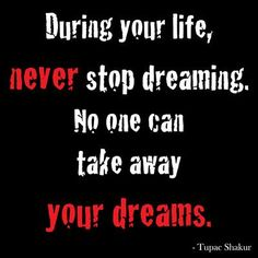"""Buy Art For Less """"During Your Life Never Stop Dreaming. No One Can Take Away Your Dreams"""" by Kelissa Semple Textual Art on Wrapped Canvas Size:"""