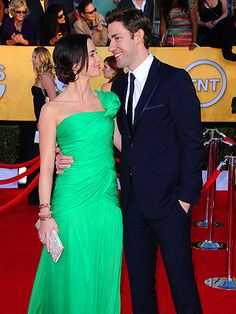 Together these 2 get an A- they are definitely adorable.  He looks well put together and so does she.