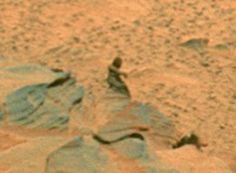 NASA's Mars rover sent back this image... but what is it?  It looks like a person sat on the surface of the planet Mars!