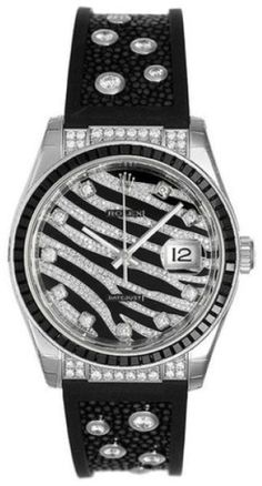 Rolex 116199SANR 18K White Gold Datejust Diamond Watch