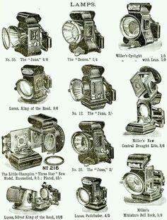 Bike lamps from old bike catalog ...