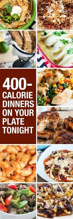 These all look so amazing!!  http://www.skinnymom.com/2014/03/19/what-400-calorie-dinners-look-like/