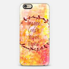 """""""Imagine Create Inspire Repeat"""" by Artist Julia Di Sano, Ebi Emporium on @casetify Fine Art Abstract Watercolor Pastel Painting Feminine Sunshine Yellow Peach Orange Pink Spring Summer Girly Inspiration Typography Quote Colorful iPhone Samsung Tech Device Case #art #fineart #watercolor #painting #techdevice #tech #iPhonecase #iPhone4 #iPhone5 #iPhone6 #chic #pastel #pink #orange #spring #summer #creative #typography #quote #inspiration #cellphone #cover #case Get $10 off using code: 5K7VFT"""