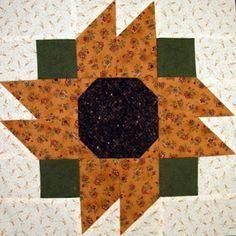 Starwood Quilter: State Fair Sunflower Quilt Block