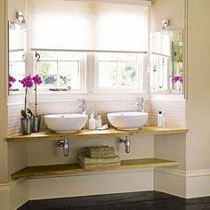 Journal of Interior Design - Interior design, decoration and inspiration for your home: Ideas for bathroom fittings Spa Like Bathroom, Bathroom Sink Vanity, Modern Bathroom, Small Bathroom, Bathrooms, Garden Bathroom, Bathroom Inspo, Bathroom Windows, Bathroom Interior