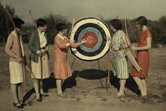 Women Archers - Austin Texas - 1928 - National Geographic