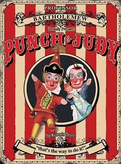 'Punch and Judy' Vintage Advertisement on Metal Original Metal Signs Co. Size: 40cm H x 30cm W