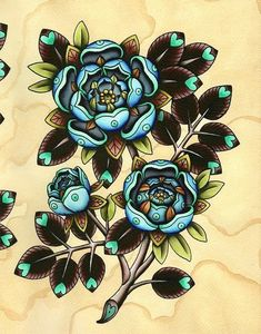 LOVE THIS! NEED this! blue flowers by Amy Williams