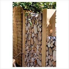 Wood pile divider for fire area, fencing