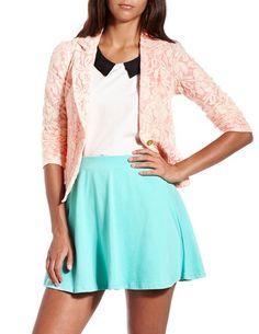 Pop Color Lace Blazer: Charlotte Russe