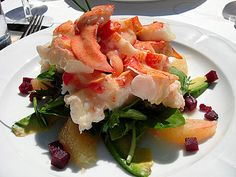 Colorful and delicious Spring recipes. [Image: Lobster Salad with New Potatoes & Pickled Onion]
