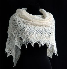 Lovely free lace knitting patterns. This shawl looks amazing, and it really isn't as hard as it looks.