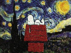 Snoopy and the rest of the peanuts gang. A carry-over from childhood.