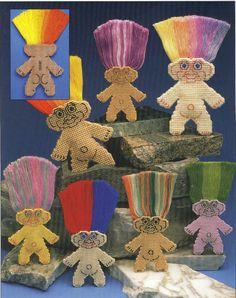 Troll Dolls Plastic Canvas Pattern by needlecraftsupershop on Etsy