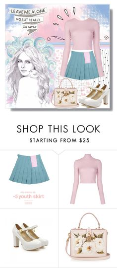 """""""Pastel Princess"""" by angelstylee ❤ liked on Polyvore featuring chuu, A.L.C., Shoes Galore, Dolce&Gabbana and Old Navy"""