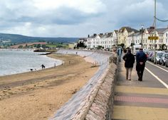 Exmouth seafront in south devon