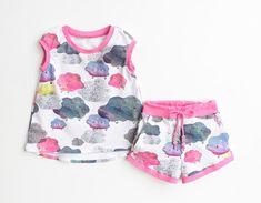 Bundle SPRINKLE Girl Baby Girl Dress, T-shirt and Shorts, Hi-Low Dress, Hi-Low Shirt, Girl shorts, Toddler newborn up to 10 years