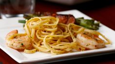 Here is what you'll need!3-Course Shrimp Scampi DinnerBacon-Wrapped Green Bean BundlesServings: 2INGREDIENTS20 green beans2 slices bacon1 tablespoon olive oil 2 tablespoons butter 1 tablespoon brown sugar 2 cloves garlic, minced Salt, to taste Pepper, to tastePREPARATION1. In a bowl, toss the green beans in olive oil, salt, and pepper. 2. L
