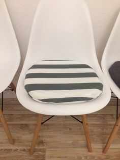 Entzuckend Kissen   Sitzkissen Für Eames Chair DSW DAW Gestreift   Ein Designerstück  Von Creativebea Bei DaWanda