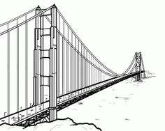How to Draw the Golden Gate Bridge, Golden Gate Bridge, Step by Step, Bridges, Landmarks & Places, FREE Online Drawing Tutorial, Added by MichaelY, February 26, 2013, 12:28:11 am
