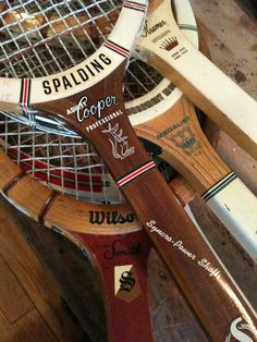 Vintage Wooden Tennis Racquet Collection I teniszütők
