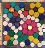 Our #keyhole garden retaining walls will be constructed of #ecoladrillos. The outer surface will have a mosaic mural of bottle caps - here is a quick calculation: 70 bottle caps per square foot x 70 square feet of surface = 4900 bottle caps. start saving!  @BetsyTeutsch