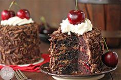 Black Forest Mini Cakes   From SugarHero.com