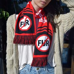 Tell the world that no one wants a fur trim jacket from Canada Goose. Get the scarf from the #PETAcatalog that reminds them that #FurIsDead!