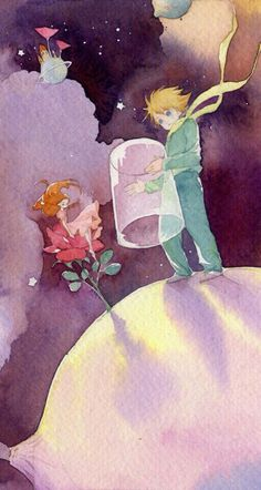 The Art Of Animation, Wanghe Art And Illustration, Watercolor Illustration, Little Prince Quotes, The Little Prince, Le Petit Prince Phrases, Cute Drawings, Concept Art, Anime, Artsy